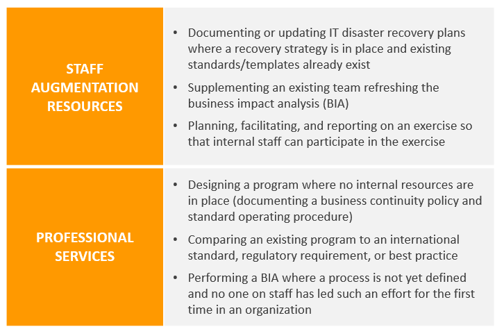 Business Continuity Professional Services